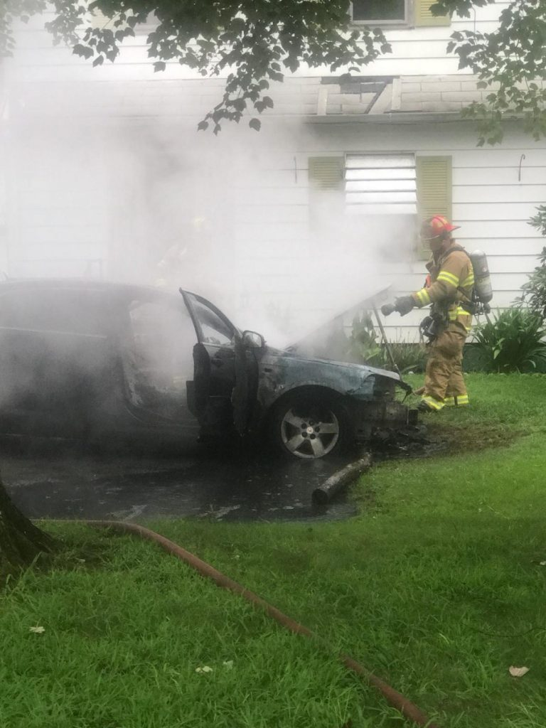 Car Fire In Port Norris
